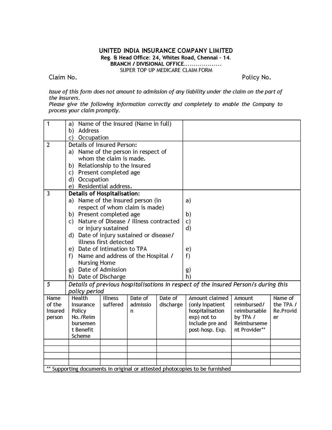 Study of Various Proposal and Policy Forms Used in General ...